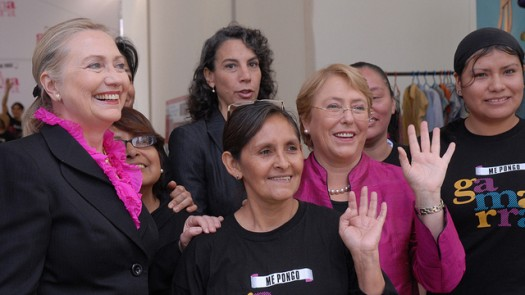 Secretary of State Hillary Clinton with Women in Peru