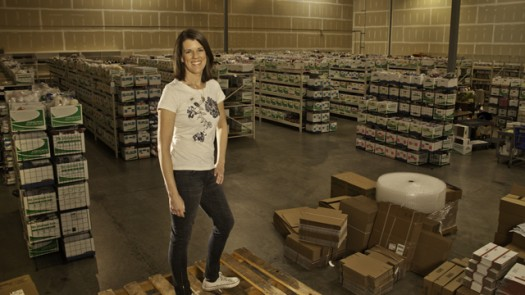 Laura Zander at her Jimmy Beans Wool warehouse, The Story Exchange Feature story