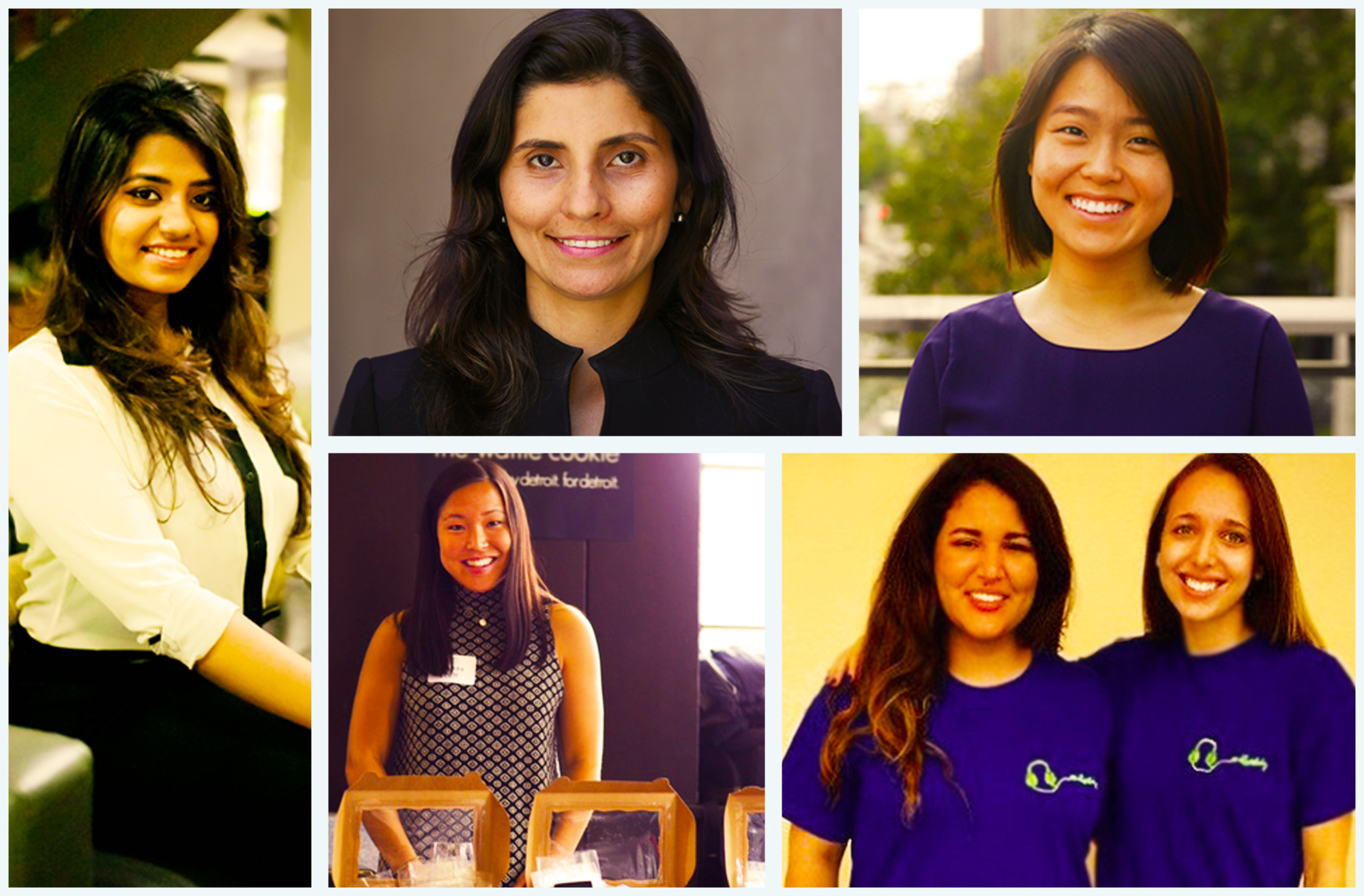 Female entrepreneurs who founded businesses in college or soon after