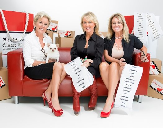 The founders of eco-friendly business Sister's Closet. (Credit: Michael Luna)