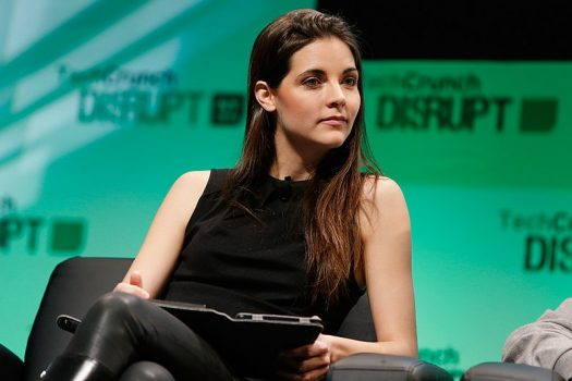 The Muse co-founder and CEO Kathryn Minshew (pictured), and WayUp co-founder and CEO Liz Wessel talk with PolicyGenius about the challenges, opportunities, and excitement of being a female CEO in the tech startup world. (Credit: Wikimedia Commons)