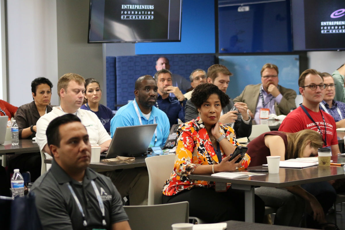 Patriot Boot Camp connects veteran entrepreneurs and military spouses with mentors and startup tools at weekend-long events. (Credit: Patriot Boot Camp)