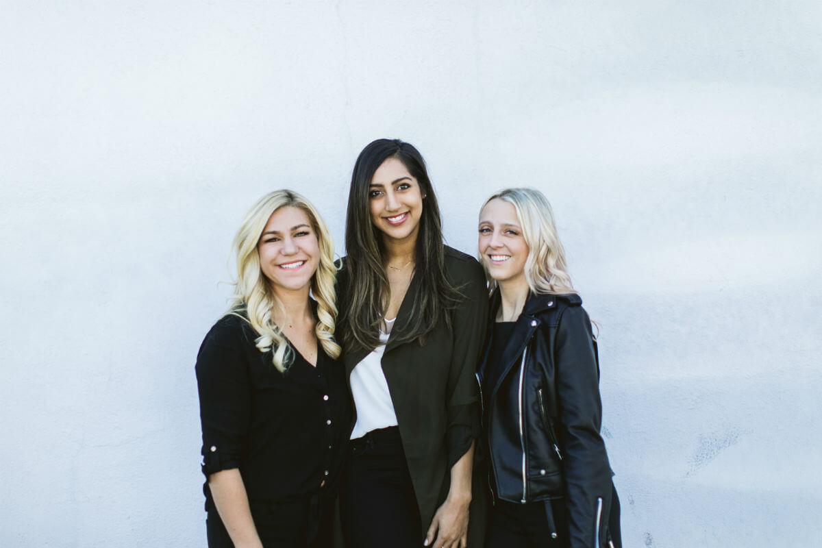 Jenni Olivero (left, COO), Sabena Suri (center, CSO) and Chelsea Moore (right, CEO) make up the entrepreneurial team behind BoxFox. Together, they are making millions crafting personalized gift boxes. (Credit: Alexis Hatch)