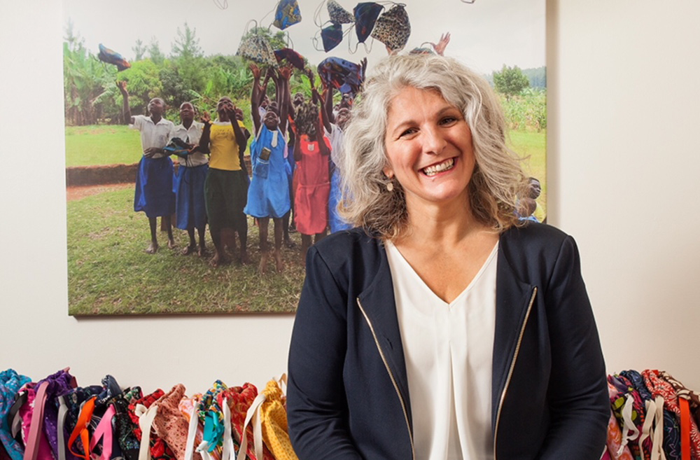 Celeste Mergens created Days for Girls to empower girls and women around the world by providing reusable sanitary products and health education