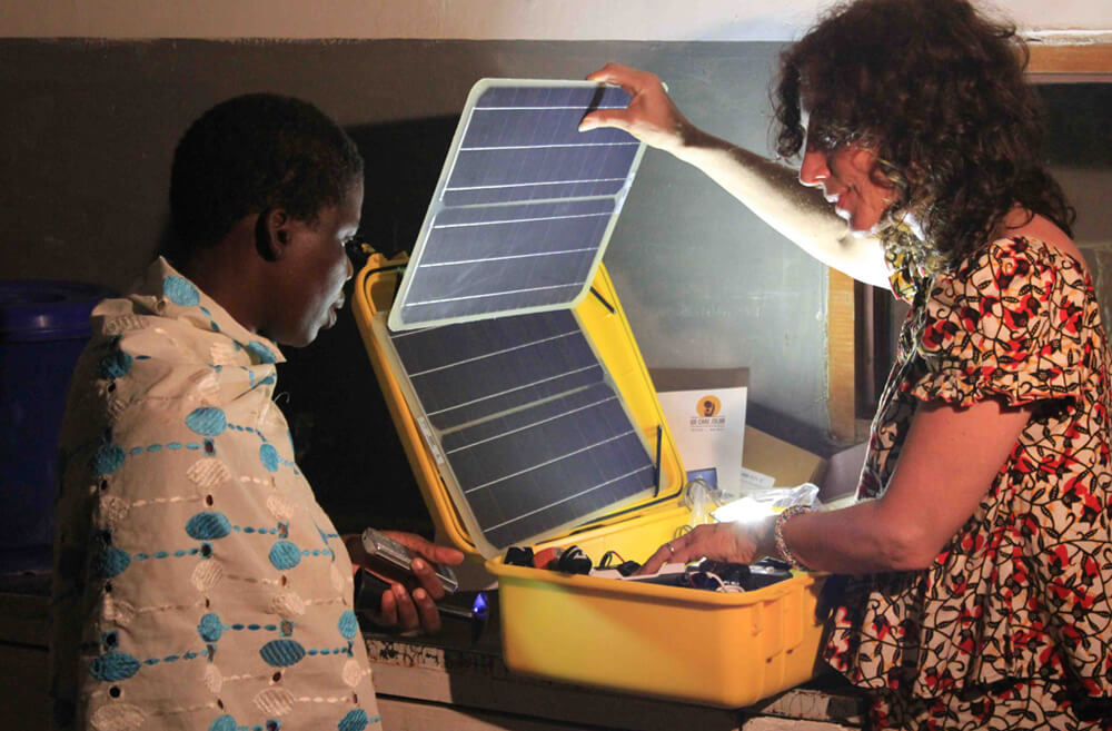 Laura Stachel, founder of We Care Solar, makes solar suitcases that save pregnant women's lives