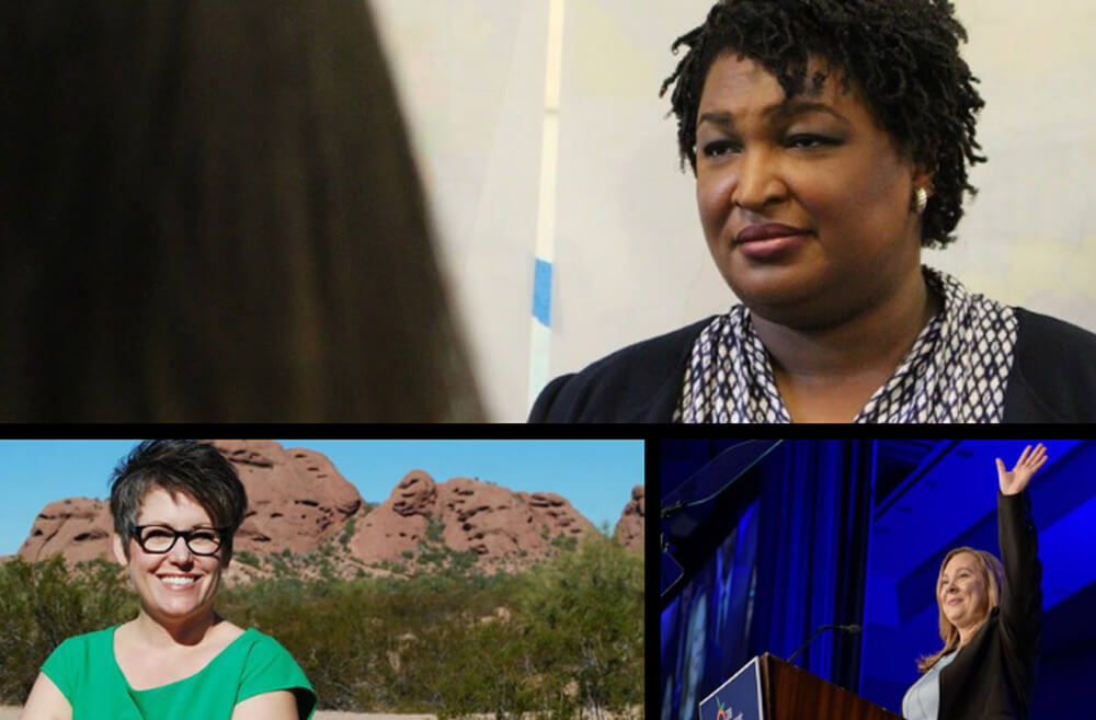 Stacey Abrams and Sarah Riggs Amico, who sought to lead the state of Georgia, both lost in a close and bitterly fought election. Katie Hobbs won her race to become Arizona's next secretary of state.