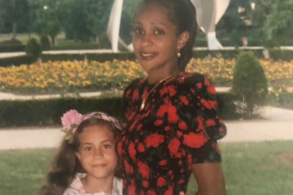 Dominique Reighard-Brooks with her mother, Dellon Reighard. Reighard-Brooks says her mother taught her invaluable lessons by setting an entrepreneurial example. (Credit: E.E. Ward)
