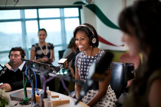 """Former First Lady Michelle Obama's memoir, """"Becoming,"""" emphasizes how important mentors and strong female role models have been in her life. (Credit: Barack Obama Presidential Library)"""