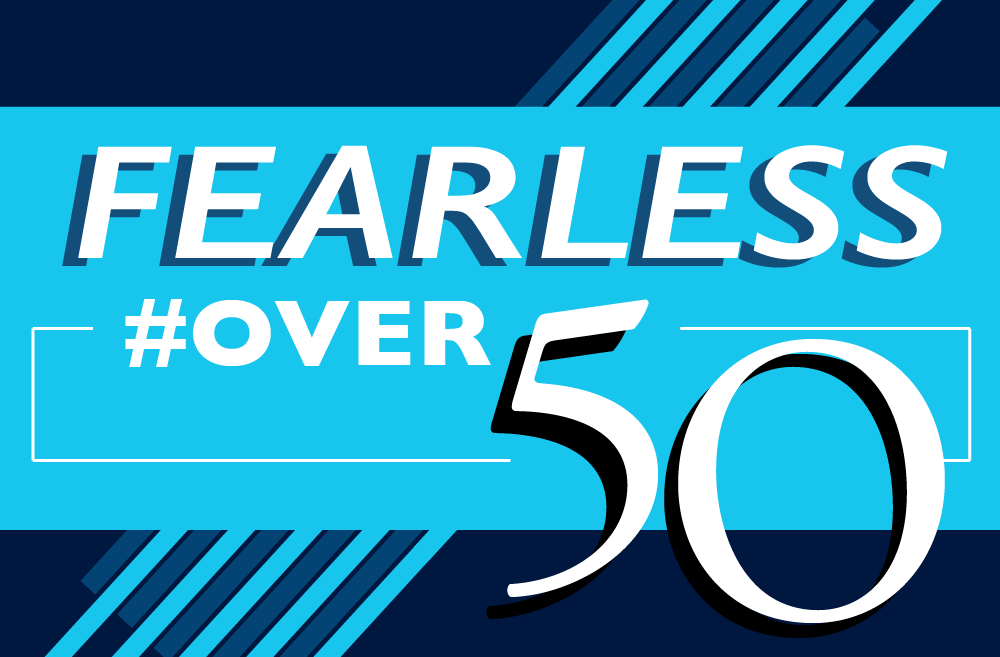 The Story Exchange is now accepting applications for its first-ever Fearless #Over50 list spotlighting women entrepreneurs over 50. (Graphic by Lynn Fong)