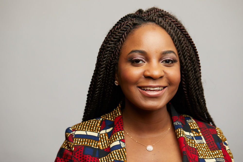 """Addie Olutola is the CEO and founder of African fashion brand D'iyanu, and her mission is to see as many people as possible """"rock"""" her African fashions. Her dream got a big boost last year in the form of some movie magic. (Credit: D'iyanu)"""