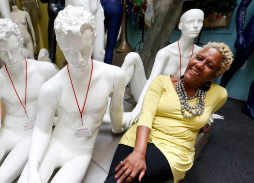 Owner Judi Townsend, of Oakland, is photographed at the Mannequin Madness retail store and warehouse in Oakland, California. (Jane Tyska/Bay Area News Group)