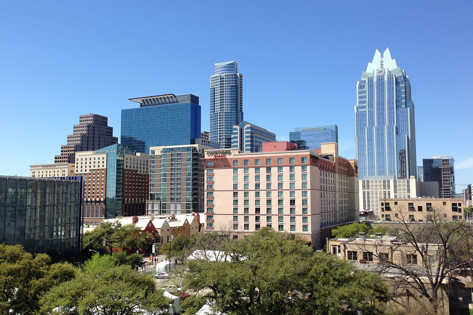 Researchers say seven major cities in Texas - including Austin, pictured above - are prime for entrepreneurs looking to launch. (Credit: MaxPixel)
