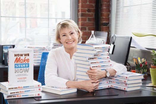 """Jules Pieri faced a number of obstacles when she launched The Grommet. She is photographed here with her new book, """"How We Make Stuff Now."""""""