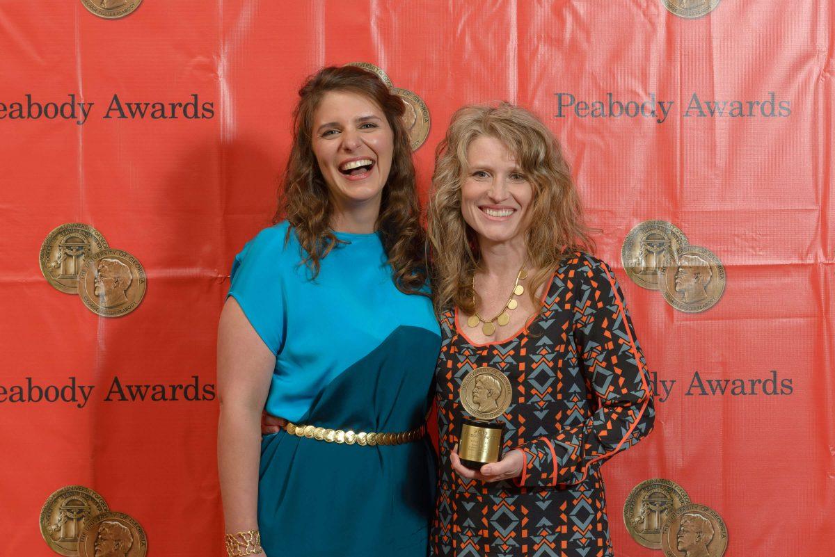Vivian Howard and Cynthia Hill share the spotlight at the 2014 Peabody Award Ceremony. (Credit: Peabody Awards)