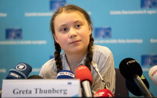 Though not formally a business owner, teenage activist Greta Thunberg's courage and resilience in protesting climate change are some of the best qualities of climate change entrepreneurs. (Credit: Facebook)