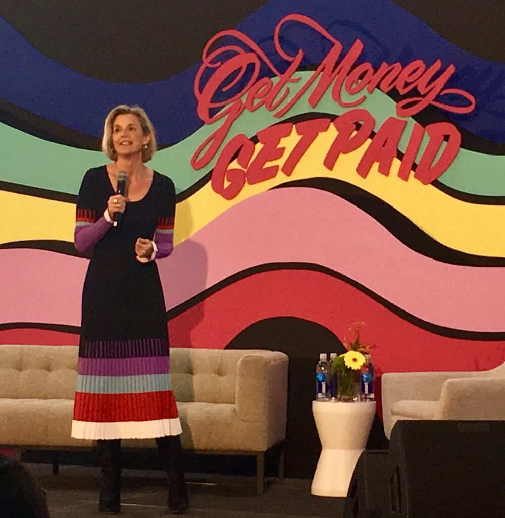 Sallie Krawcheck, co-founder of digital investment firm Ellevest, talked to women about the importance of investing their money.