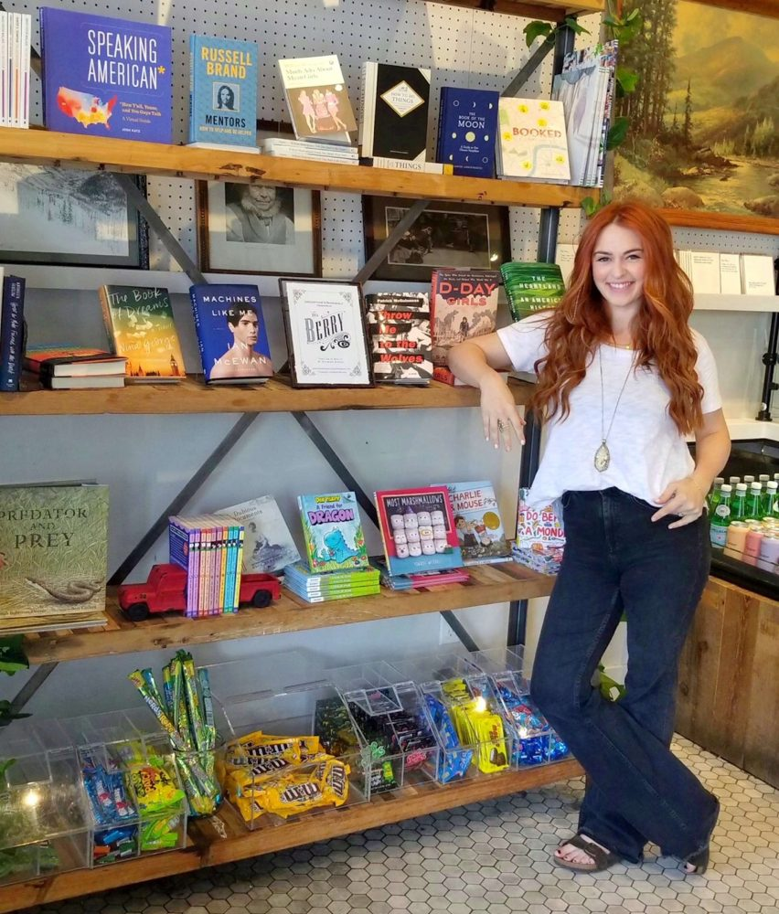 Taylor Rose Berry in her shop, which was rebranded as Berry & Co. and sells more than just books.