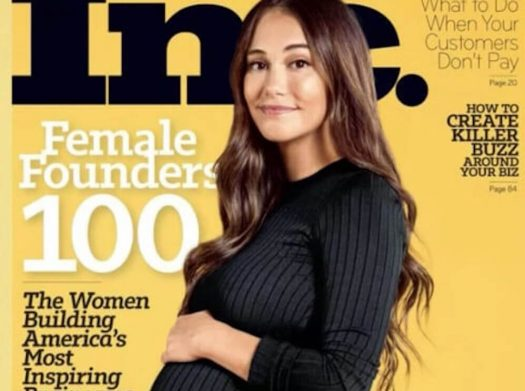 Audrey Gelman became the first pregnant woman on the cover of a business magazine.