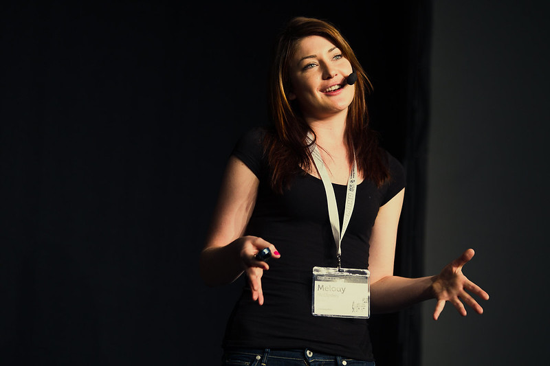 Melody McCloskey speaks about being a women in technology. (Credit: Flickr, Silicon Prairie News)