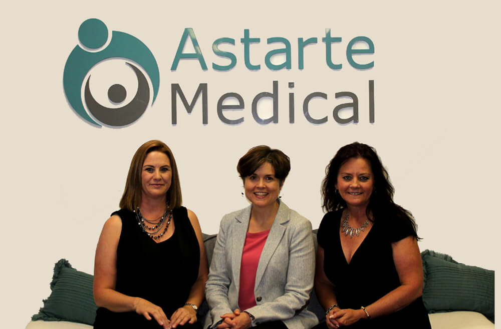 Astarte Medical founders (from l to r) Tracy Warren, Katherine Gregory, RN, PhD, and Tammi Jantzen (Astarte Medical)