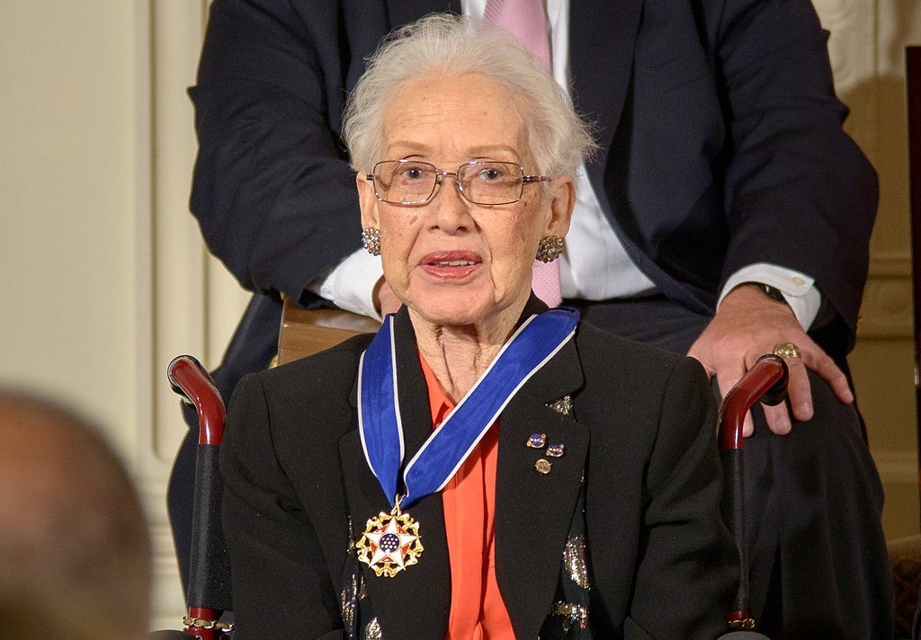 Mathematician Katherine Johnson passed away. She's remembered fondly as both a brilliant mind at NASA and a trailblazer for fellow women in science, tech, engineering and math. (Credit: Wikimedia Commons)