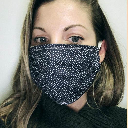 Kristine Frailing of New York Sewing Center taught an Instagram Live class on how to make masks.