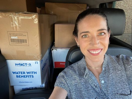 Hello Alice co-founder Carolyn Rodz driving to pick up products purchased from small businesses after SXSW was canceled.