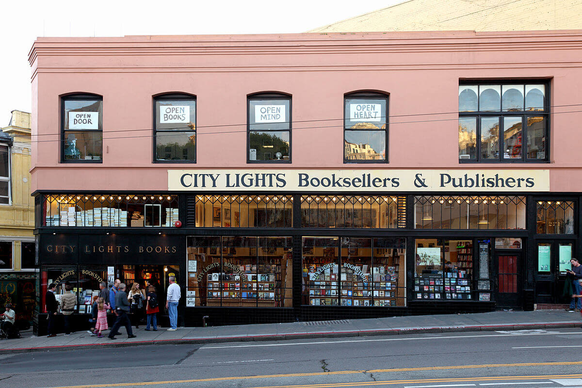 City Lights Bookstore in San Francisco, California.