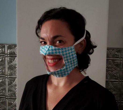 Stephanie Samperi-Gonzalez creates transparent masks and sells them on her Etsy website.
