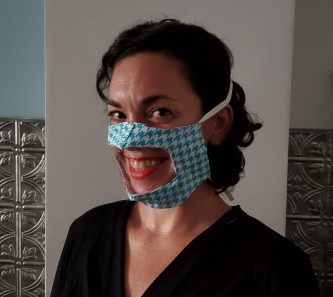 Stephanie Samperi-Gonzalez creates transparent masks and sells them on her Etsy website.