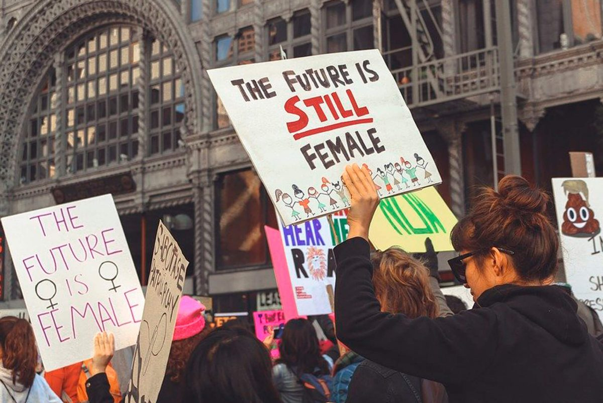 Signs from the 2018 Women's March capture the moment (Credit: Pixabay)