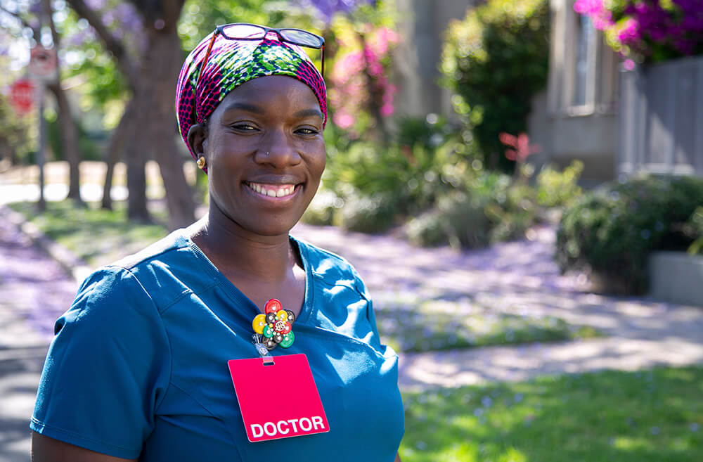 Dr. Nana Afoh-Manin has co-founded MyCovidMD to bring free coronavirus testing to communities of color. (Credit: Courtesy of the company.)