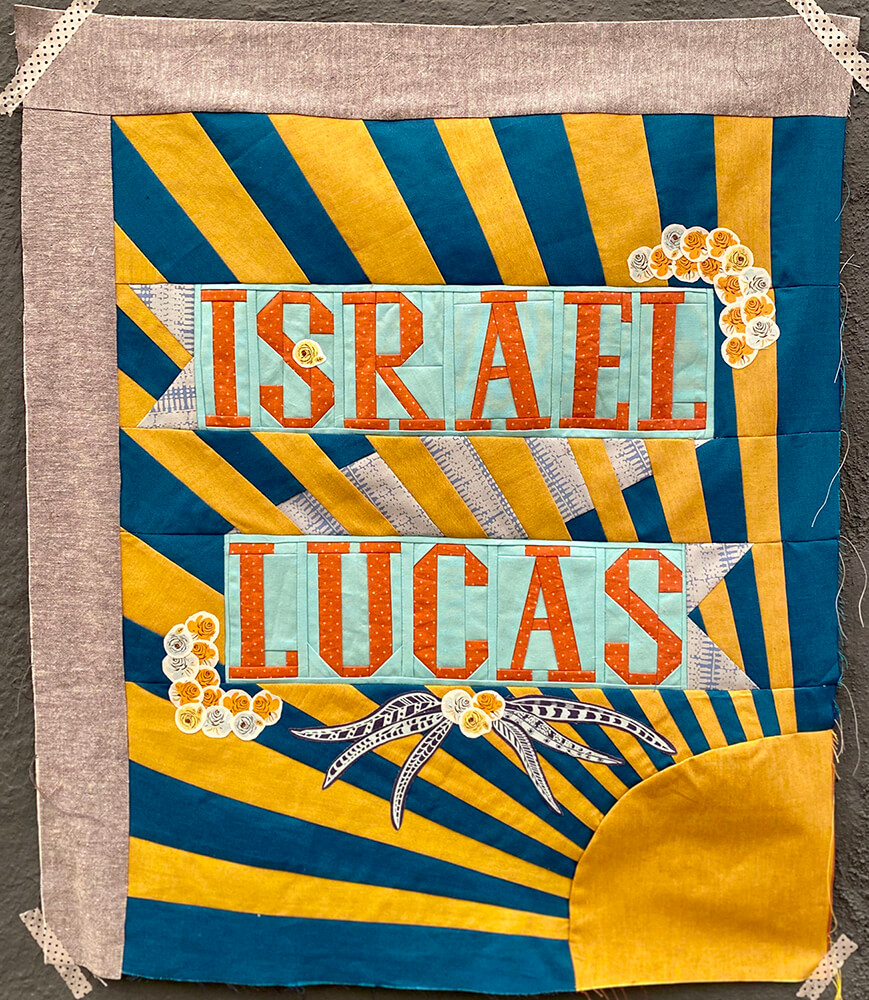 30-year-old Israel Lucas was shot in the parking lot of a Family Dollar in Bakersfield, California, in March during an altercation. This block was made by a maker who wishes to remain anonymous.