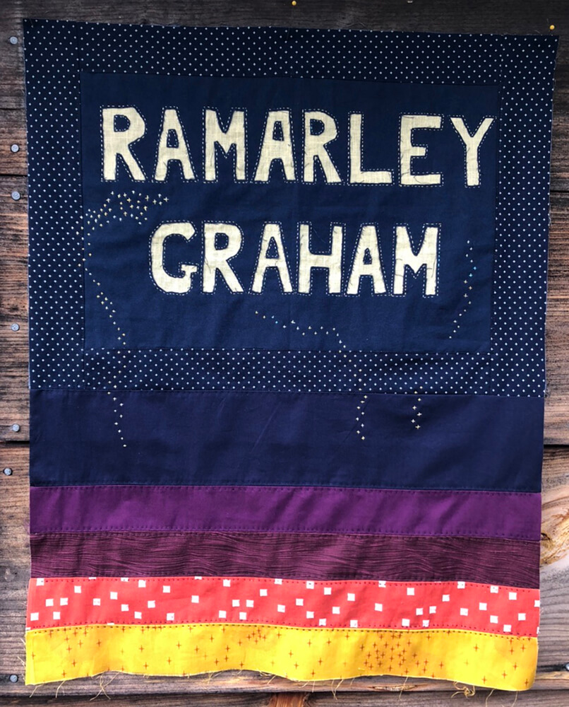 Ramarley Graham, 18, was killed by police in his home in the Bronx. Raheli Harper, who works as a handwork teacher in California and New York, created this block honoring him.