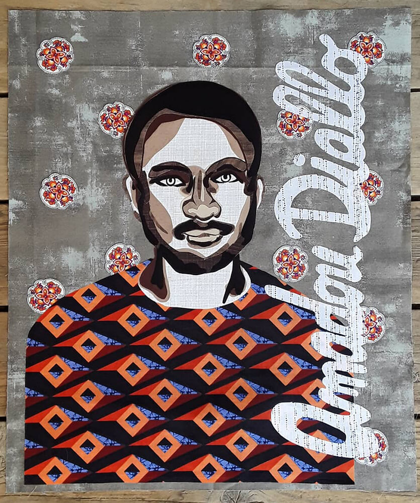 Quilter Summer Swanson created this bright block honoring Amadou Diallo, a 23-year-old Guinean immigrant, who was shot by New York City police in 1999. The four officers, who were white, were acquitted.