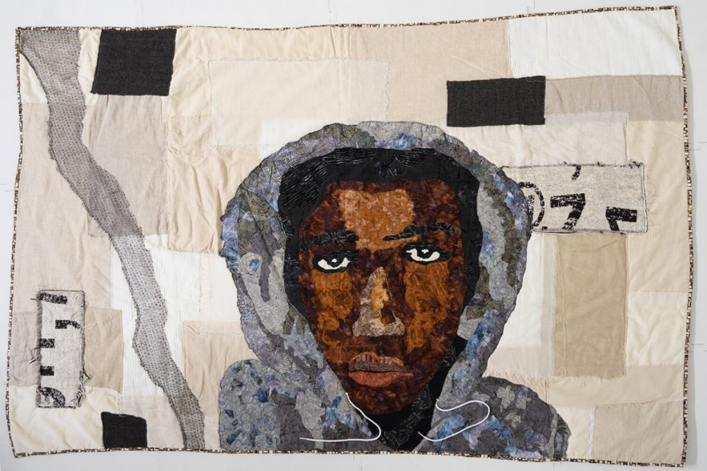 Trayvon Martin's shooting prompted Sara Trail, founder of SJSA, to create her first portrait quit when she was 17 -- the same age as Trayvon when he was killed.