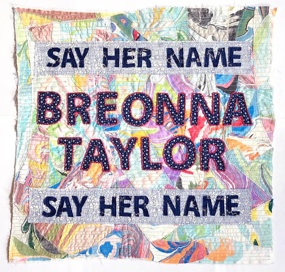 Breonna Taylor was fatally shot by police in her Louisville, Kentucky apartment in March during a botched drug raid. This is one of Pesavento's blocks honoring her life.