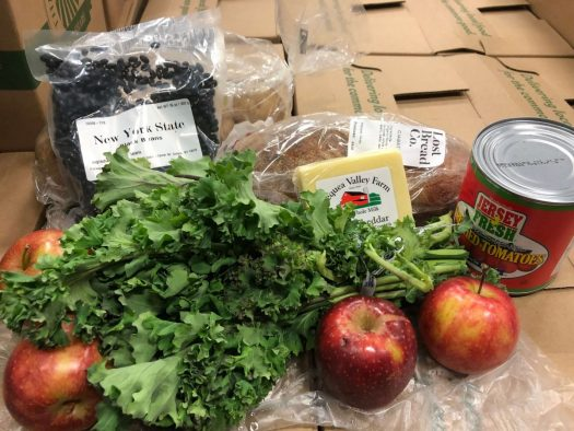 New York City residents opened their boxes from The Common Market to find fresh produce.