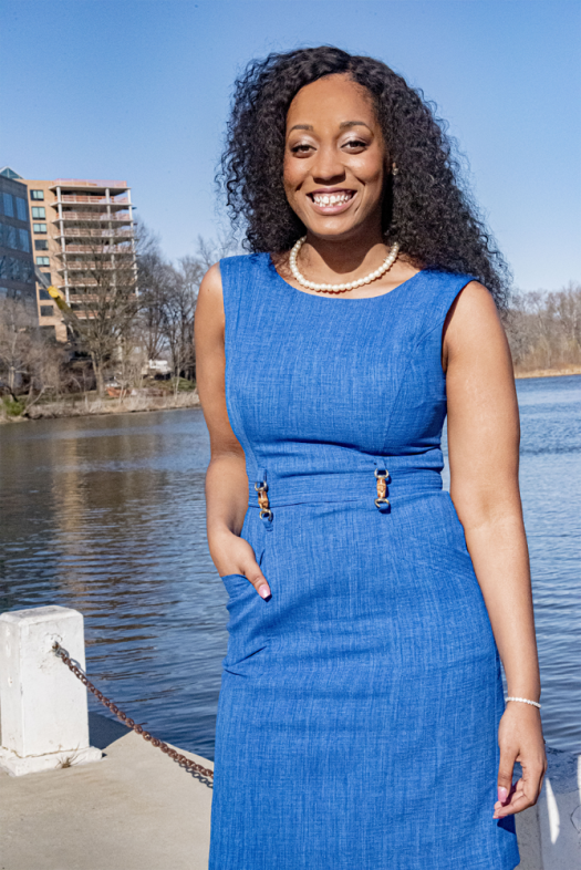 Kristal Hansley is the first Black woman CEO of a solar company in the U.S. (Credit: WeSolar)