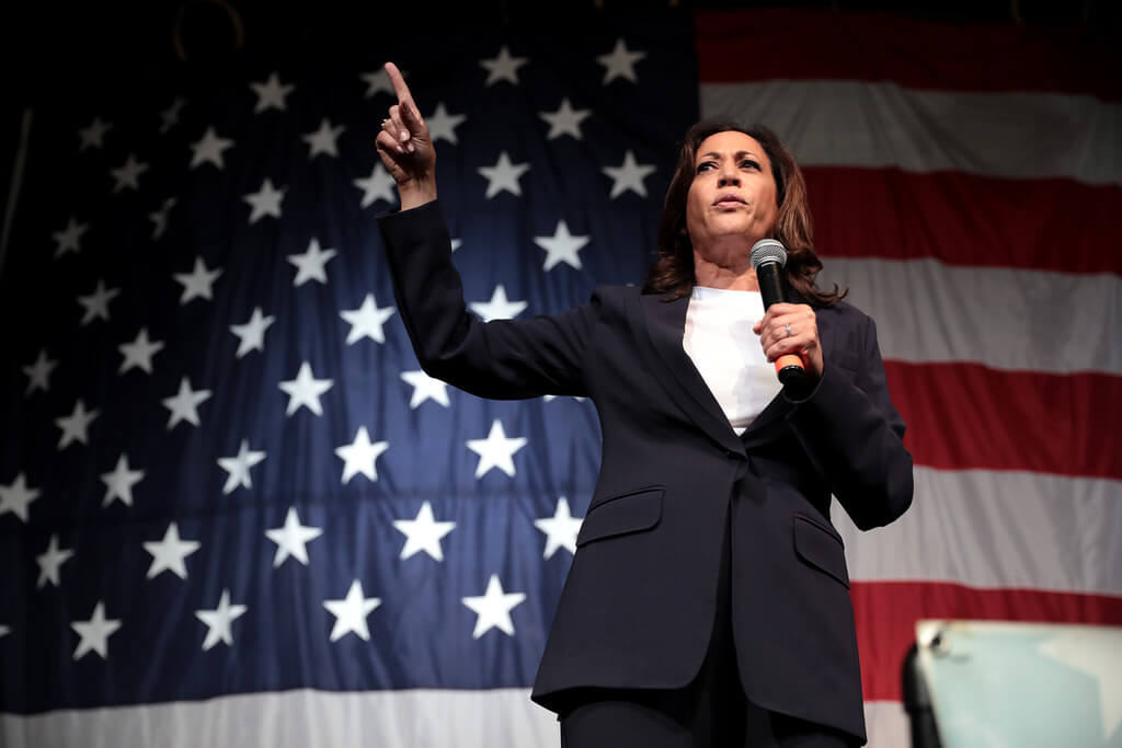 Kamala Harris made history on Saturday, but some college women and women of color are skeptical about her policies. (Credit: Flickr)
