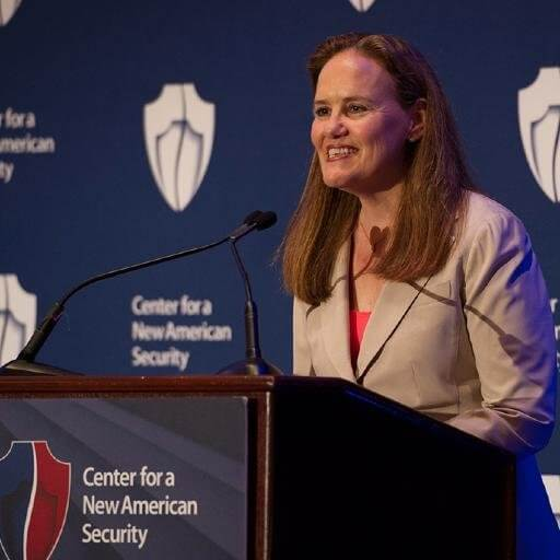 Michele Flournoy, co-founder of a Washington, D.C., think tank, may become the new U.S. Defense Secretary under Biden. (Credit: Twitter)