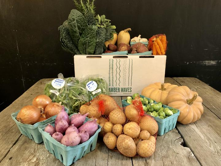 Amber Waves Farmer's Market 'Thanksgiving Vegetable Box' (Credit: Amber Waves Market)